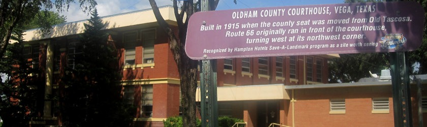 Photo of the courthouse in Oldham County, Texas